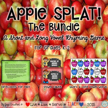Short and Long Vowels Games: Apple SPLAT! The Bundle