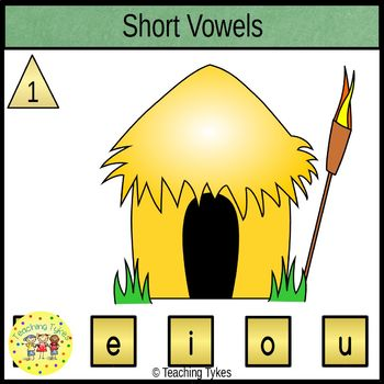 Vowels Clip Cards