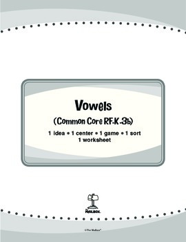 Vowels (Common Core RF.K.3b)