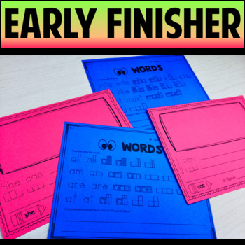 Handwriting Vowels Compound Words Digraphs Sight Words  Early Finisher