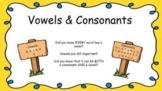 Vowels & Consonants Google Slides Presentation REMOTE LEAR