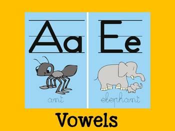 Vowels Flash Cards