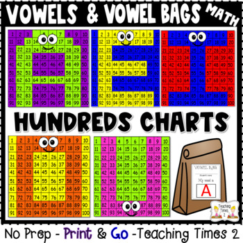 Vowels Hidden Picture Hundreds Chart Fun Pack *Integrate R