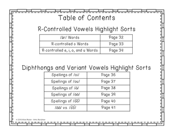 Vowels Highlight Sorts Bundle