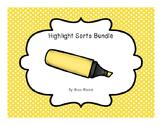 Vowels Highlight Sorts Bundle