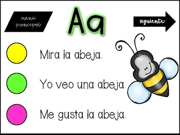 Vowels Interactive Reading in Spanish