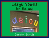 Vowels! Large vowels for your wall!