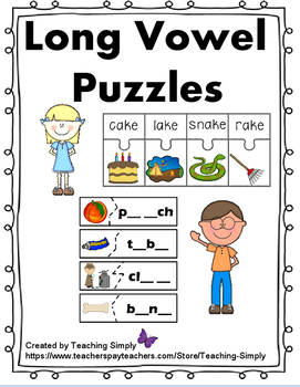 Vowel Puzzles for Long Vowels