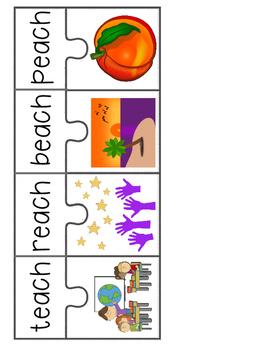 Vowel Puzzles for Long Vowels
