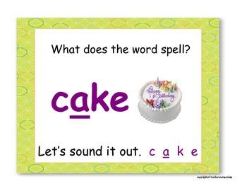Vowels - Long a, e, i, o, and u