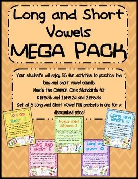 Vowels: Long and Short Vowel FUN MEGA Pack