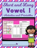 Phonics Activities for Short and Long Vowel I