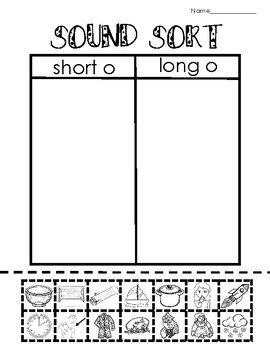 Vowels - Long o - Picture and Word Sorts - RTI - Phonics - Struggling Readers