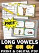 FREE Long O Vowel Teams Task Cards Phonics Games & Activit