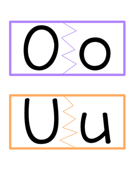 Vowels Matching Activity