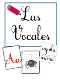 Vowels in spanish: pictures and words flashcards.