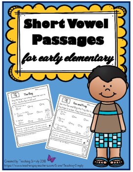 Vowels: EASY Short Vowel Stories for Beginning and Struggling Readers - Rti