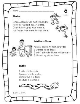 Vowels Short And Long Phonics Poetry