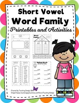 Vowels - Short vowel word families - RTI