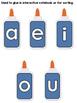 Vowel Glue Bottles