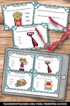 Long i Vowels BUNDLE, 1st Grade Phonics, IGH IE and Y Sounds Like I Task Cards