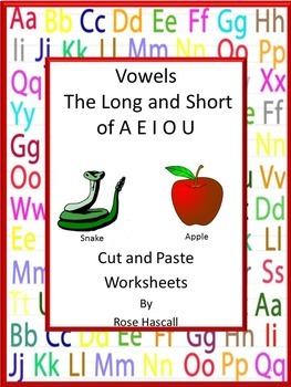 Phonics Worksheets Cut And Paste,Vowel Worksheets,Special Education,Autism