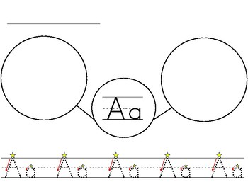 Vowels Tracing Bubble Map