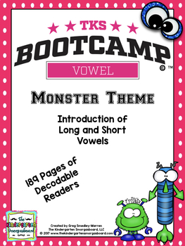 Vowel Bootcamp Monster Edition!  A Short And Long Vowel Creation