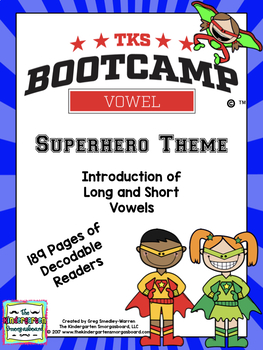 Vowels!  Vowel Bootcamp Superhero Edition!  A Short And Long Vowel Creation!