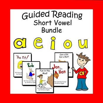 Vowels, Vowels , Short Vowels, Guided Reading Books Short Vowels Bundle
