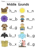 Vowel Sounds Worksheets Pack for Middle Sounds Practice