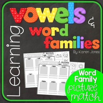 Vowels & Word Families {Word Family Picture Match}