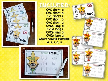 Vowels & Word Families {Word Family Trace & Read}