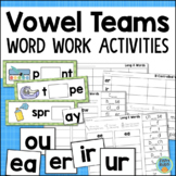 Vowel Teams Worksheets & Activities for Reading Centers