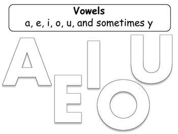 Vowels Worksheet or Interactive Notebook Activity - Grammar - Language Arts