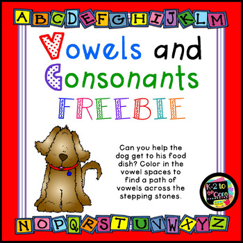 Free Download - Vowels and Consonants Maze