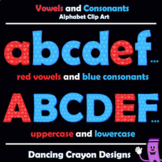 Vowels and Consonants: Alphabet Letters Clip Art for Teachers