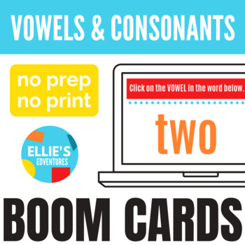 Vowels and Consonants Boom Cards