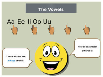 Vowels and Consonants Lesson