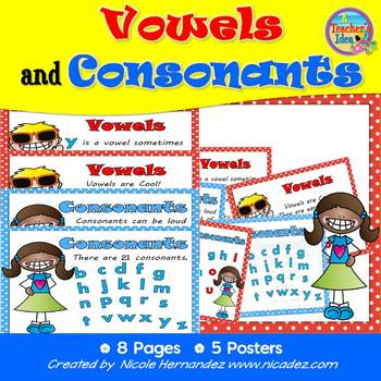 Vowels and Consonants Posters