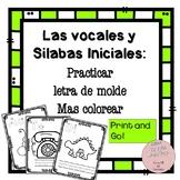 Las Silabas y Vocales Spanish Coloring Pages