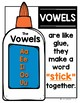 Vowels are Like Glue {FREEBIE} Poster & Printable for your Alphabet Chart!