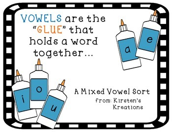 Vowels are the GLUE that hold words together
