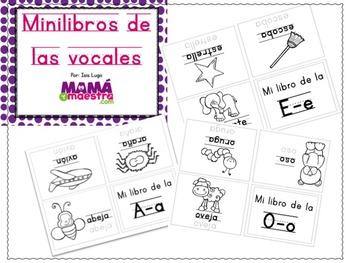 Vowels mini-book spanish   Mini-libro de vocales en español