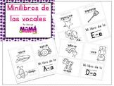 Vowels mini-book spanish | Mini-libro de vocales en español