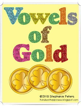 Vowels of Gold Short Vowel Word Work