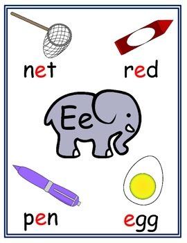 Vowels - short e