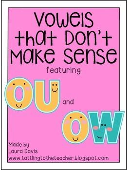 Vowels that Don't Make Sense: OU and OW