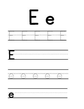 Vowels tracing and writing