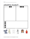 Vowels-vocales Spanish Kindergarten vocabulary packet for 5 vowels - 20 files